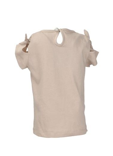 Mininio Bej Love Pullu Omuz Fiyonklu T-Shirt (9ay-4yaş) Bej Love Pullu Omuz Fiyonklu T-Shirt (9ay-4yaş) Bej